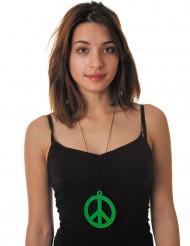 Fluo groene hippieketting voor volwassenen