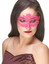 Roze kant masker voor volwassenen