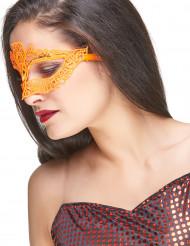 Oranje kant masker voor volwassenen