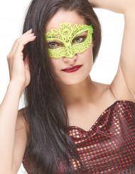 Geel kant masker voor volwassenen
