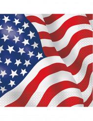 16 USA vlag papieren servetten