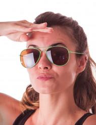 Groen aviator bril voor volwassenen