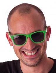 Fluo groene blues zonnebril voor volwassenen