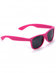 Fluo roze blues zonnebril voor volwassenen