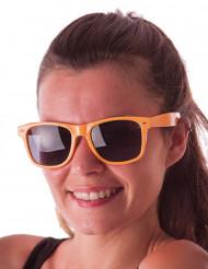 Fluo oranje blues zonnebril voor volwassenen