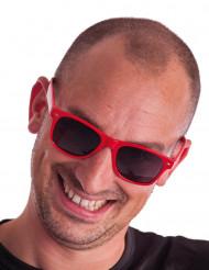 Rode blues zonnebril voor volwassenen