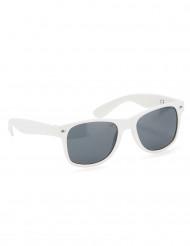 Witte blues bril voor volwassenen