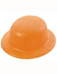Oranje glitter hoed volwassenen