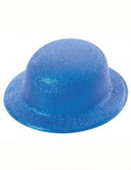 Blauwe glitterhoed volwassenen