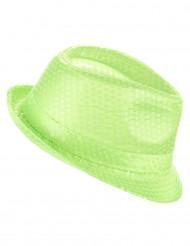 Groen borsalino hoed voor volwassenen