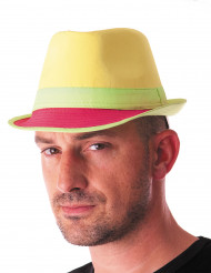 Fluo gele hoed volwassenen