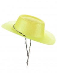 Gele glitter cowgirlhoed