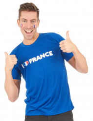 I Love France supporter t-shirt voor volwassenen