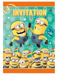 8 Minions™ uitnodigingen