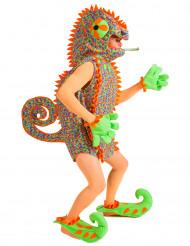Kleurrijk kameleon kostuum voor heren