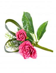 Fuchsia rozen tafelversiering