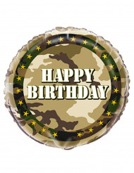Folie ballon Happy Birthday camouflage 45 cm
