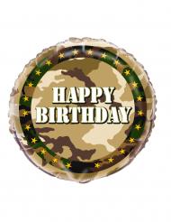 Folie ballon Happy Birthday camouflage 45 cm