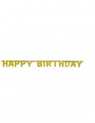Goudkleurige Happy Birthday slinger