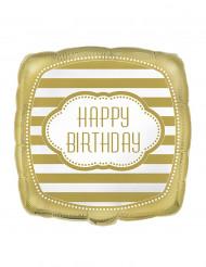 Happy Birthday ballon Goud 45 cm