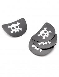 4 kartonnen piraten ooglapjes