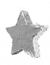 Zilveren sterren pinata