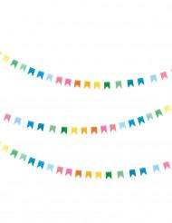 Multikleurige mini vlaggenslinger 2m