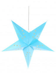 IJsblauwe sterrenversiering 60 cm