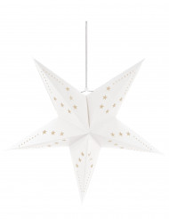Witte sterrenversiering 60 cm