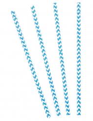 10 witte en blauwe zigzag rietjes