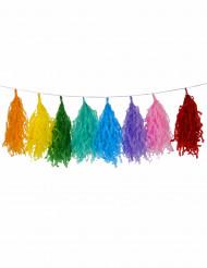 Veelkleurige pompons slinger