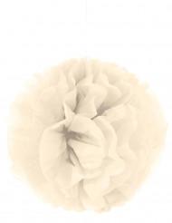 Crèmekleurige pompon hangdecoratie