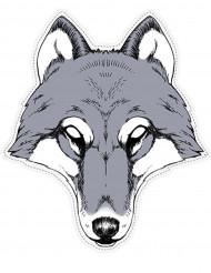 Papieren wolfmasker