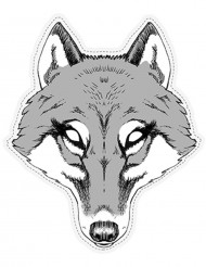 Papieren wolvenmasker
