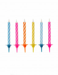 10 gekleurde verjaardagskaarsen