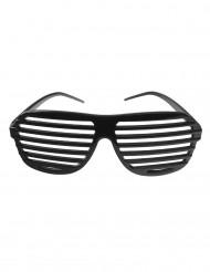 Zwart gestreepte bril voor volwassenen