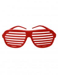 Rode gestreepte bril