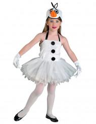 Sneeuwpop kostuum voor meisjes