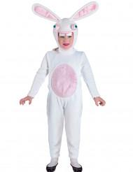Dom wit konijnenkostuum voor kinderen
