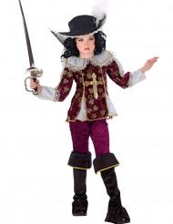 Musketier kostuum bordeaux meiden