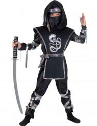 Zwart ninja drakenkostuum voor jongens