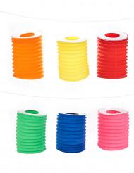 12 gekleurde lampions 16 cm