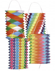 12 gekleurde lantaarns 13 cm