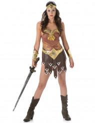 Sexy bruine en goudkleurige gladiator outfit voor vrouwen