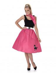 Fuchsia 50's kostuum voor vrouwen