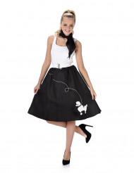 Zwart en wit retro jaren 50 kostuum voor vrouwen