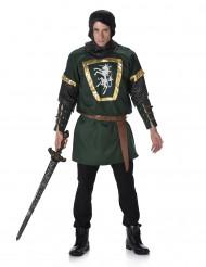 Groen ridderkostuum voor mannen
