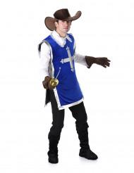 Blauw musketier kostuum voor heren
