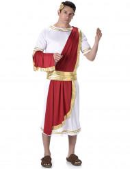 Driekleurige Romeinse keizer outfit voor mannen