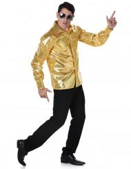 Gouden disco blouse voor mannen